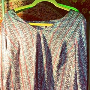 Lane Bryant Purple Multicolored shirt 14/16